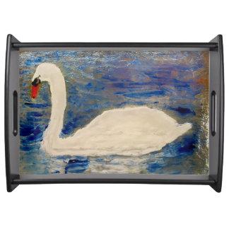 Swan See-Kunst Tablett