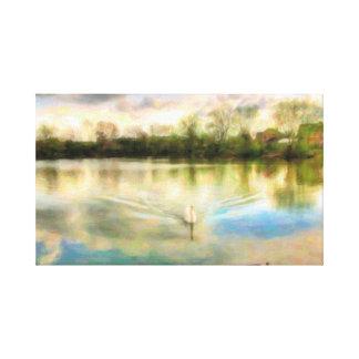 Swan See Leinwanddruck