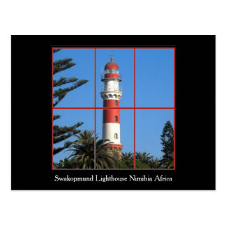 Swapokmund Leuchtturm-Postkarte Postkarte