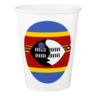 Swasiland-Flagge Pappbecher