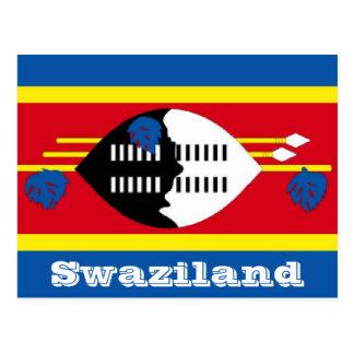 Swasiland-Flagge Postkarte