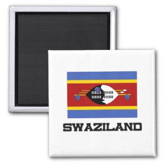 Swasiland-Flagge Quadratischer Magnet
