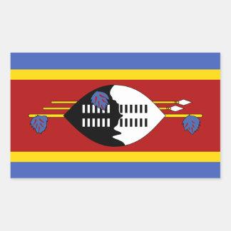 Swasiland-Flaggen-Aufkleber Rechteckiger Aufkleber