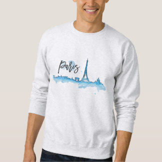 Sweat Mann Blanc Basic Paris Sweatshirt