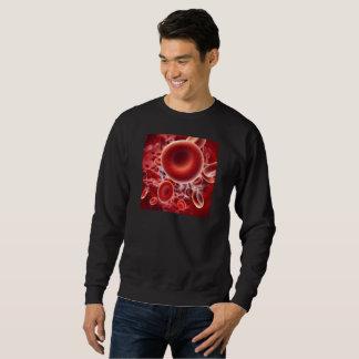 sweat schwarz + gedruckte rote Körperchen Sweatshirt