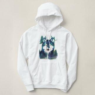 """Sweatshirt der Wölfe der Frauen """"Läufe mit"""""""