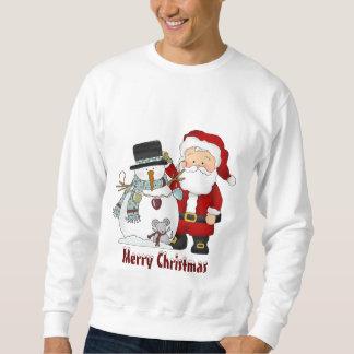 Sweatshirt des Weihnachten- Sankt und Schneemann-