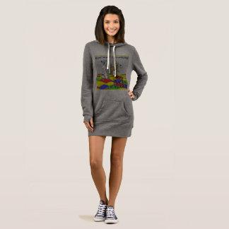 Sweatshirt, Hoodie, lang Kleid
