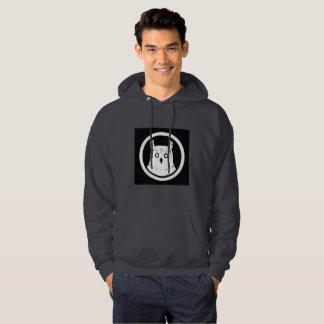 Sweatshirt-Mannschwarzes der weißen Eule mit Hoodie