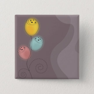 Sweet Abstract Flowers Quadratischer Button 5,1 Cm