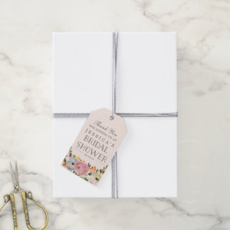Sweet Blooms Bridal Shower Favor Tags