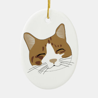 sweet cat, eine glückliche Katze Keramik Ornament