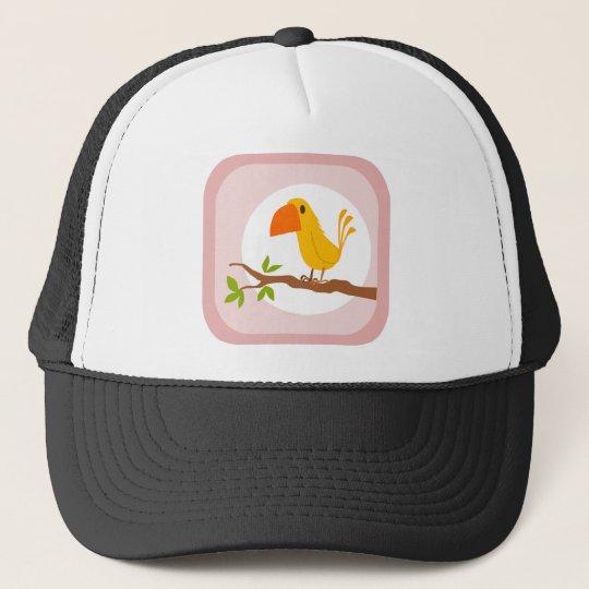 sweet yellow bird, süßer gelber Vogel Truckerkappe