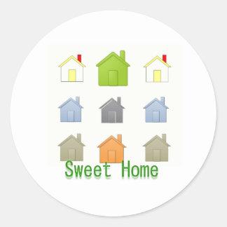SweetHome Haus-Erwärmungs-Party Runder Aufkleber