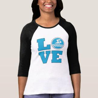 Swim-Liebe für wettbewerbsfähige Schwimmer oder T-Shirt