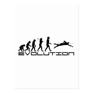 Swim-Schwimmen-Schwimmer-Sport-Evolutions-Kunst Postkarte