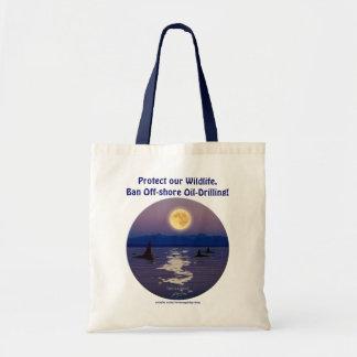 SWIMMIING ORCA u. MOND Widllfie Taschen-Tasche Tragetasche