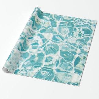 Swimmingpool-Foto-Geschenk-Verpackungs-Papier Geschenkpapier