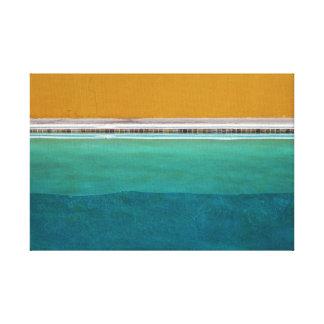 Swimmingpool Leinwanddruck