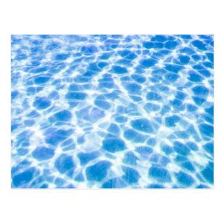 Swimmingpool-Oberfläche Postkarte