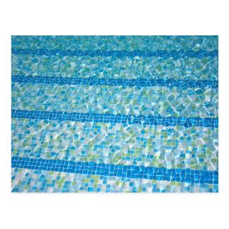 Swimmingpool-Postkarte Postkarte