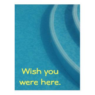 Swimmingpool-Sommerferienferien Postkarte