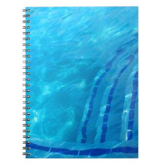 Swimmingpool Spiral Notizblock