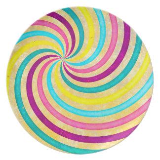 Swirl pastel flacher teller