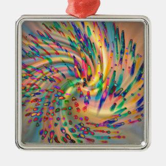Swirligigs Quadratisches Silberfarbenes Ornament