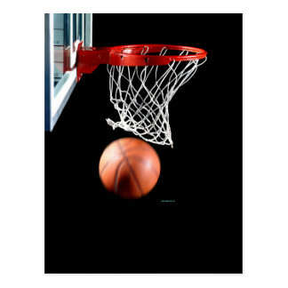 Swish, Basketball durch das Netz Postkarte