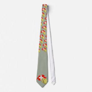 Swiss clean, Saubere Schweiz Personalisierte Krawatte