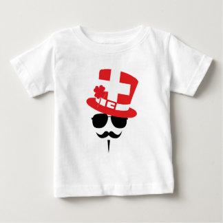 Swiss go Mustache Baby T-shirt