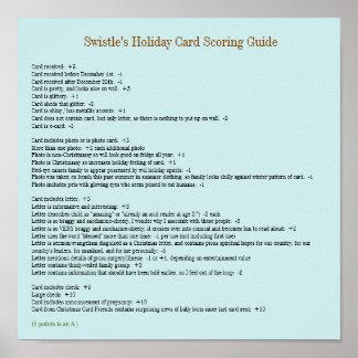 Swistle Feiertags-Karten-zählendes Führer-Plakat 1