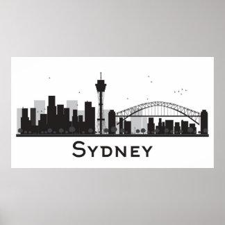 Sydney, Australien   schwarze u. weiße Poster