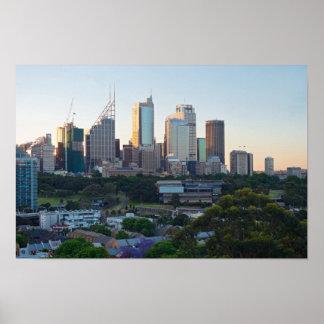 Sydney-Geschäftszentrum-Wolkenkratzer Poster
