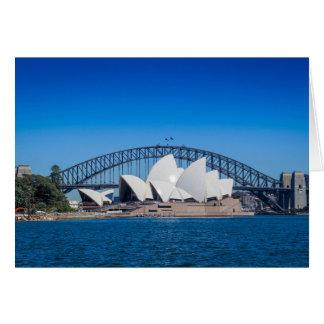 Sydney-Hafen auf einem schönen Morgen Karte