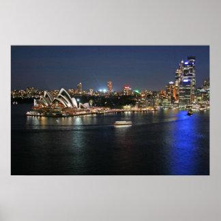 Sydney-Hafen bei Kreisquay Poster