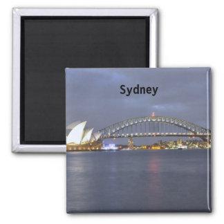Sydney-Hafen-Brücke Australien Quadratischer Magnet