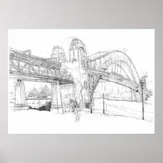Sydney-Hafen-Brücke, Skizze Poster