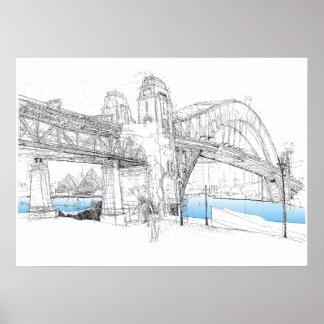 Sydney-Hafen-Brücken-Tag Poster