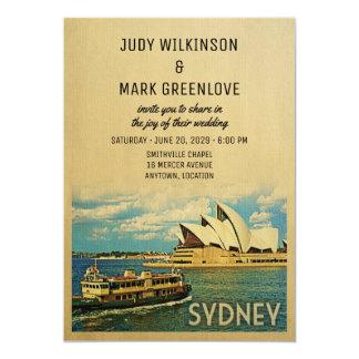 Sydney-Hochzeits-Einladungs-Australien-Australier Karte