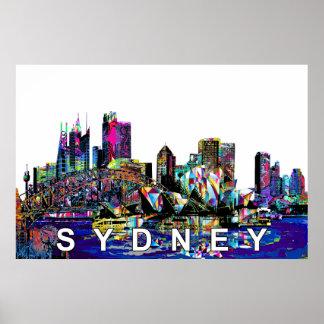 Sydney in den Graffiti Poster