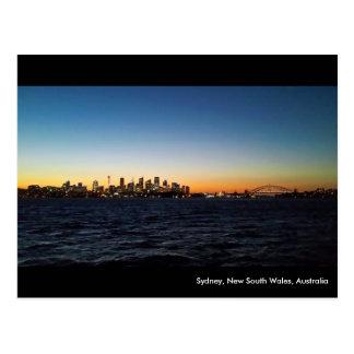 Sydney-Landschaft nachts Postkarte