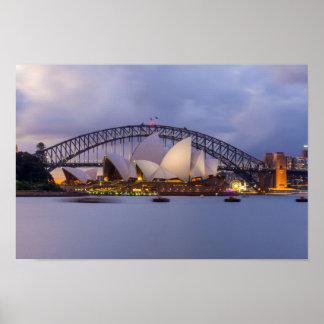 Sydney-Oper nachts Poster
