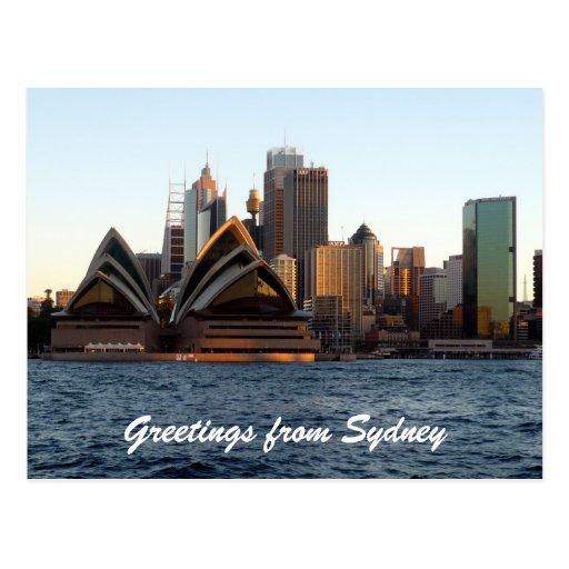Sydney-Opern-Skyline Postkarten
