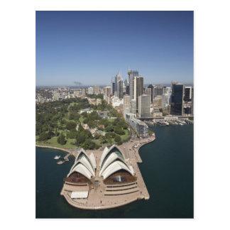 Sydney-Opernhaus, königliche botanische Gärten, Postkarte