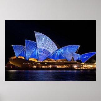 Sydney-Opernhaus-Lichtshow Poster