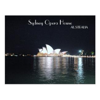 Sydney-Opernhaus nachts Postkarte