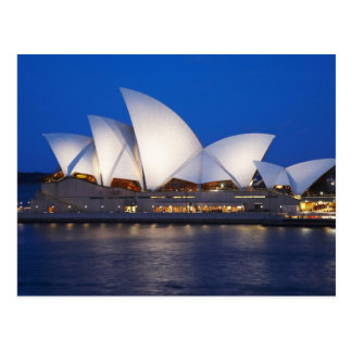 Sydney-Opernhaus nachts, Sydney, neuer Süden Postkarte