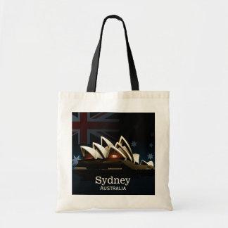 Sydney-Opernhaus nachts Tragetasche
